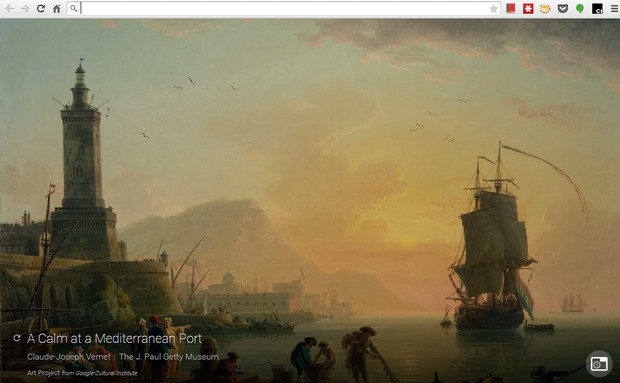 View wonderful art with every browser tab thanks to Google's new Chrome extension
