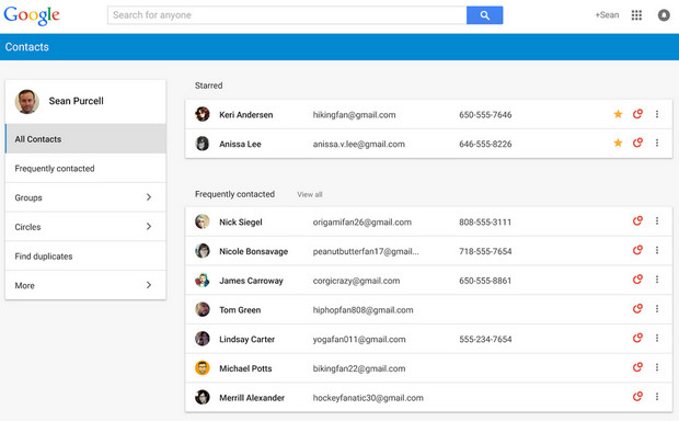 Google takes its Contacts interface out of the Stone Age, check out the new preview here