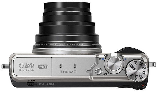Olympus Stylus SH-2 - a neat, retro styled travel compact with 24x zoom