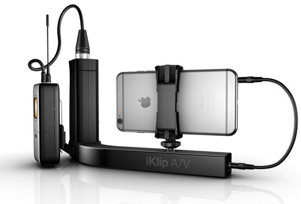 IK Multimedia introduces iKlip A/V - the first smartphone broadcast mount for audio.video content