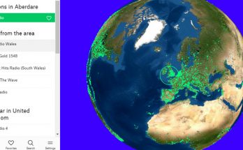 Radio Garden lets you click on dots to listen to radio station all over the world